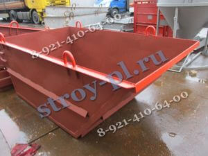 Совок - ящик для бетонного раствора