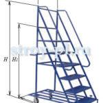Лестницы подкатные на колесах для склада