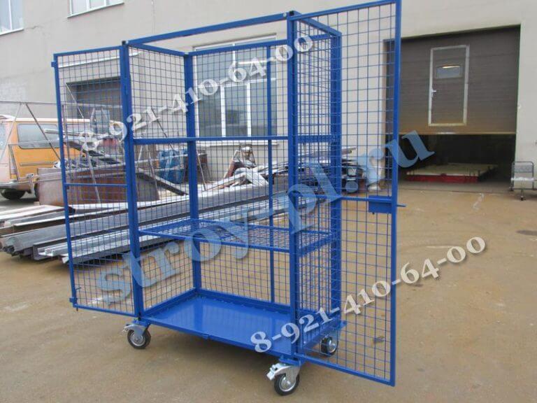 сетчатые шкафы для склада на колесах