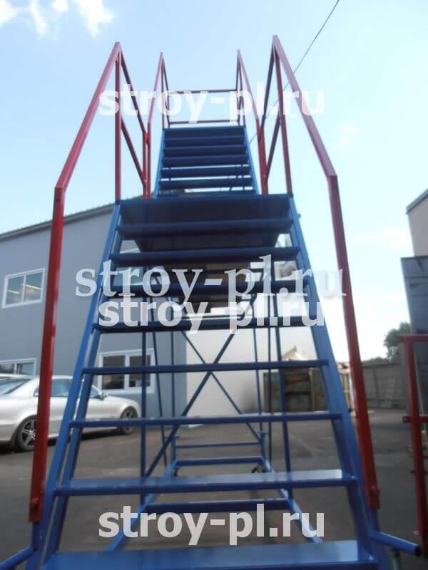 лестница на колесах с площадками фото