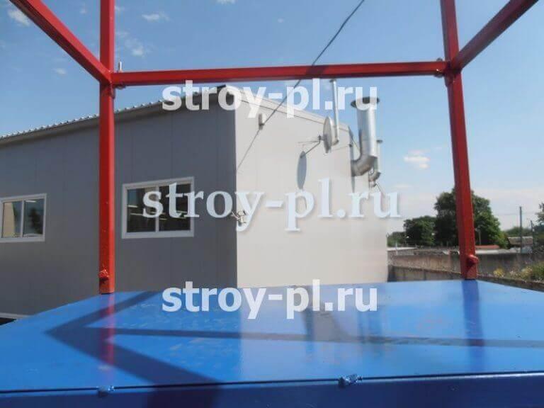 купить лестницу подкатную с двумя площадками