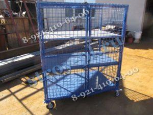 Шкаф для склада сетчатый на колесах