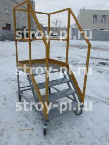 Лестницы с площадкой передвижные складские