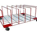 Тележки складские платформенные на колесах