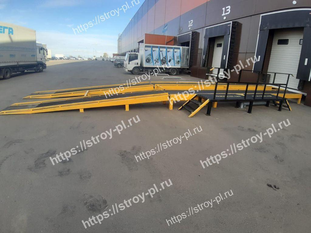 металлическая эстакада для склада